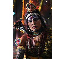 Young man Dresses as Lord Shiva  Photographic Print