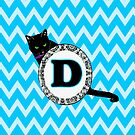 D Cat Chevron Monogram by gretzky