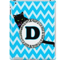 D Cat Chevron Monogram iPad Case/Skin