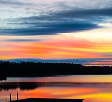 Dock Sunset on the Lake by Parker Cunningham