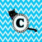 C Cat Chevron Monogram by gretzky