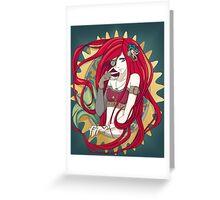 Steampunk Ariel Greeting Card