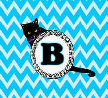 B Cat Chevron Monogram by gretzky