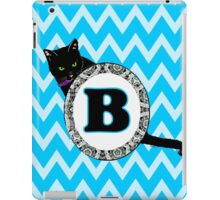 B Cat Chevron Monogram iPad Case/Skin