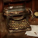Typewriter - My bosses office by Mike  Savad