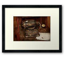 Typewriter - My bosses office Framed Print
