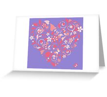 Pink patterned heart Greeting Card