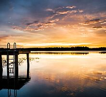 Golden Sunset on the Lake by Parker Cunningham