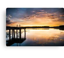 Golden Sunset on the Lake Canvas Print