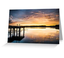 Golden Sunset on the Lake Greeting Card
