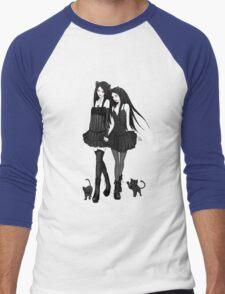 """Courtney and Laura: two cat girls"" Men's Baseball ¾ T-Shirt"