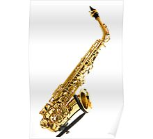 Saxophone Stand Poster