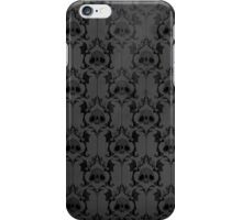 Halloween Damask - Grey iPhone Case/Skin