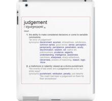 What is Judgement ? iPad Case/Skin