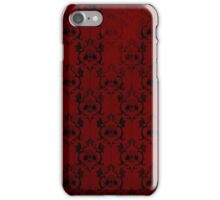 Halloween Damask - Red iPhone Case/Skin