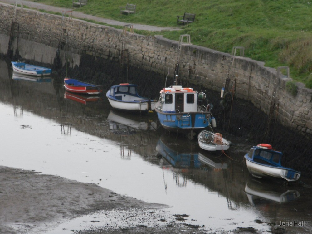 Boats and their reflection's at Seaton Sluice by JenaHall