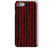 Red and Black Ink Stripes iPhone Case/Skin