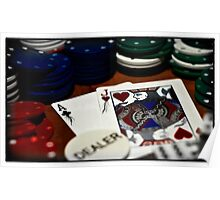 Cartooned Poker Poster