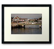 Fishing Village Nova Scotia Canada Framed Print