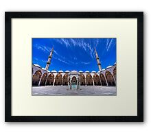 The Blue Mosque (HDR) Framed Print