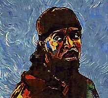 Omar Little - by Van Gogh by art-customized