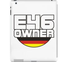 E46 Owner german flag iPad Case/Skin
