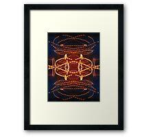 Dancing rays of light Framed Print