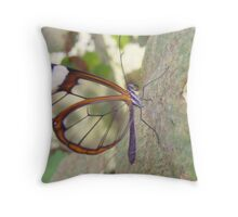Glasswing Butterfly. Throw Pillow