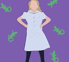Matilda the Musical - Matilda Shapland as Matilda (with newts) by miralouise