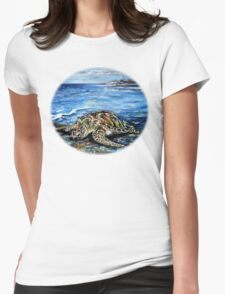 See Turtle Womens Fitted T-Shirt