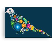 Floral patterned bird Canvas Print