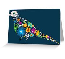 Floral patterned bird Greeting Card