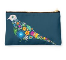 Floral patterned bird Studio Pouch