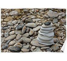 Zen Rock Stack, Micro-Cairn Poster