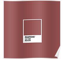 Marsala Pantone Poster