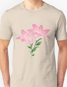 Pink watercolor flowers T-Shirt