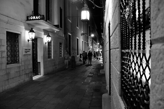 Night Life Outside Harry's Bar by Ainsley Kellar Creations