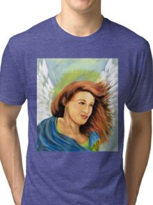 Joyous Angel (digital painting) Tri-blend T-Shirt