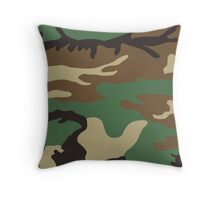 Cool Camouflage Pattern Throw Pillow
