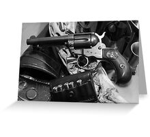 Antique Colt revolver photography poster Greeting Card