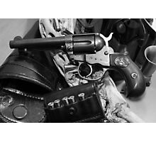 Antique Colt revolver photography poster Photographic Print