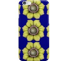 More Yellow flowers on blue iPhone Case/Skin