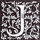 "Art Nouveau ""J"" (William Morris Inspired) by Donnahuntriss"