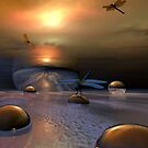 Land of Dragons by Sandra Bauser Digital Art