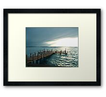 Dock To Sea Framed Print