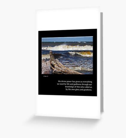 Superior Waves Greeting Card