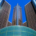 Ren Cen Detroit MI by Mark Malinowski