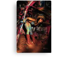 Splattered Canvas Print