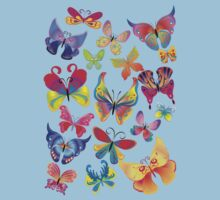Colorful Butterflies Baby Tee