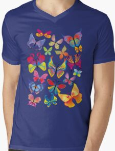 Colorful Butterflies Mens V-Neck T-Shirt